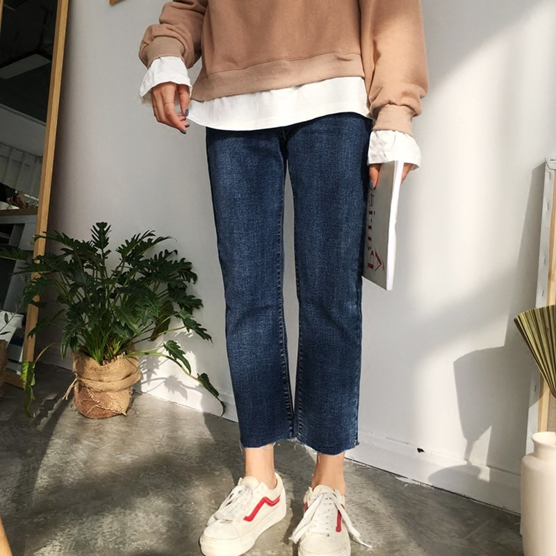 大码女装牛仔裤200斤显瘦直筒九分裤胖妹妹最爱大腿粗的女生裤子