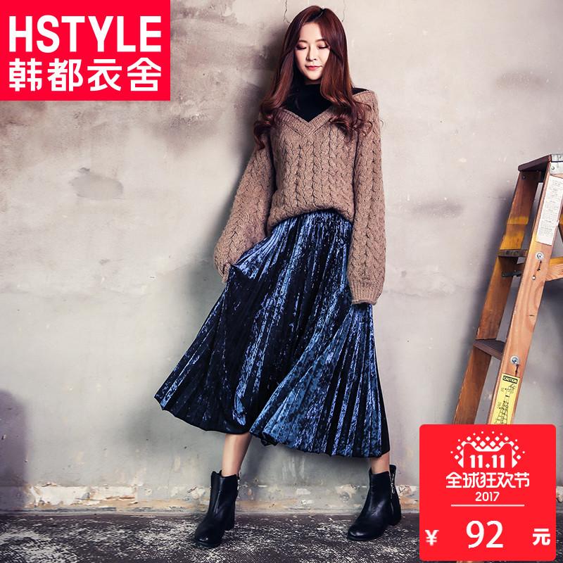 韩都衣舍半身裙,在淘宝天猫月销售2215单,仅售188元,还有优惠卷。