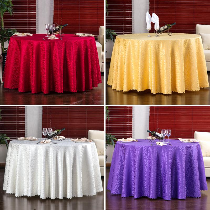 酒店桌布布艺餐厅台布饭店餐桌布欧式大圆桌桌布圆形家用圆桌布