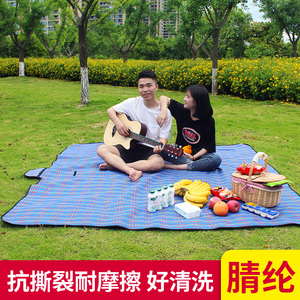 Tent mat outdoor camping camping picnic mat moisture-proof mat waterproof tartan beach supplies equipment mat