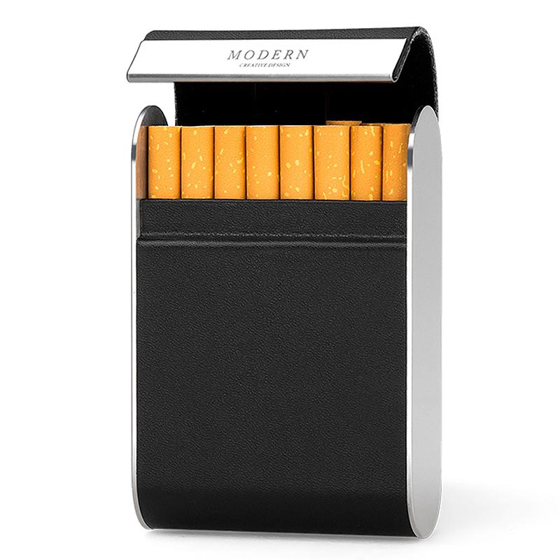 点击查看商品:德国Modern皮烟盒 创意香菸盒不锈钢烟盒 个性便捷烟盒 送男友潮