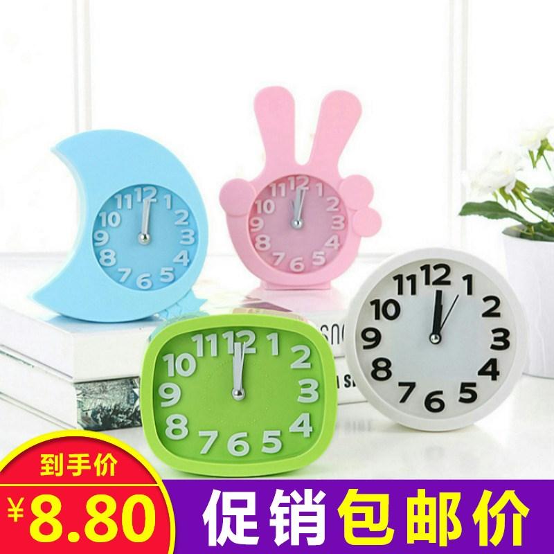 桌面学生儿童小闹钟床头座钟台钟电子个性时钟工艺钟客厅摆件钟表