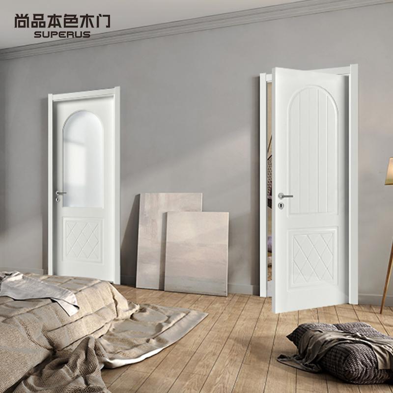 尚品本色木门两居室卧室门室内门实木复合免漆门厨卫门推拉门套餐