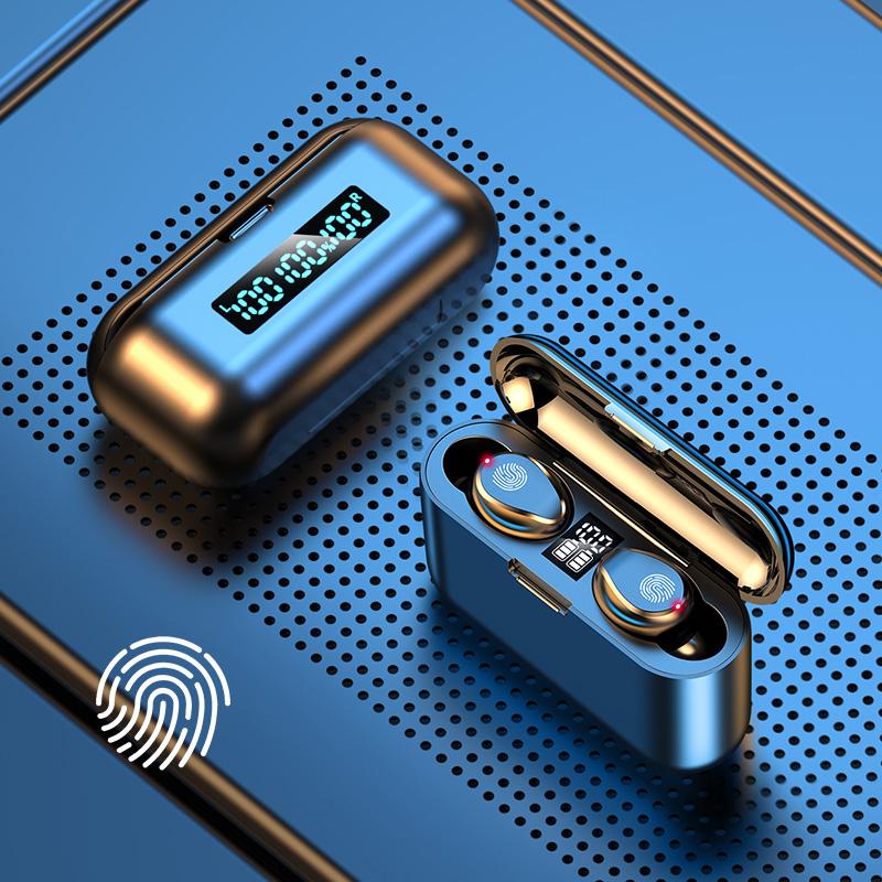 夏新真无线蓝牙耳机5.1双耳迷你隐形小型入耳式运动跑步游戏超长待机续航适用苹果X华为vivo小米oppo安卓通用