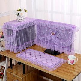 布艺蕾丝电脑罩套台式电脑防尘罩一体机电脑保护套液晶屏幕盖巾布