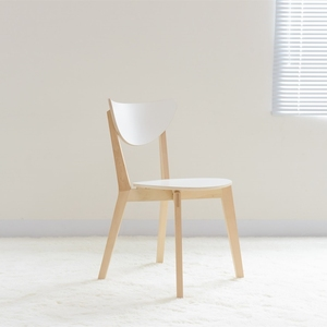 Nomila light luxury simple modern chair home office cafe leisure solid wood dining chair white stacked backrest chair
