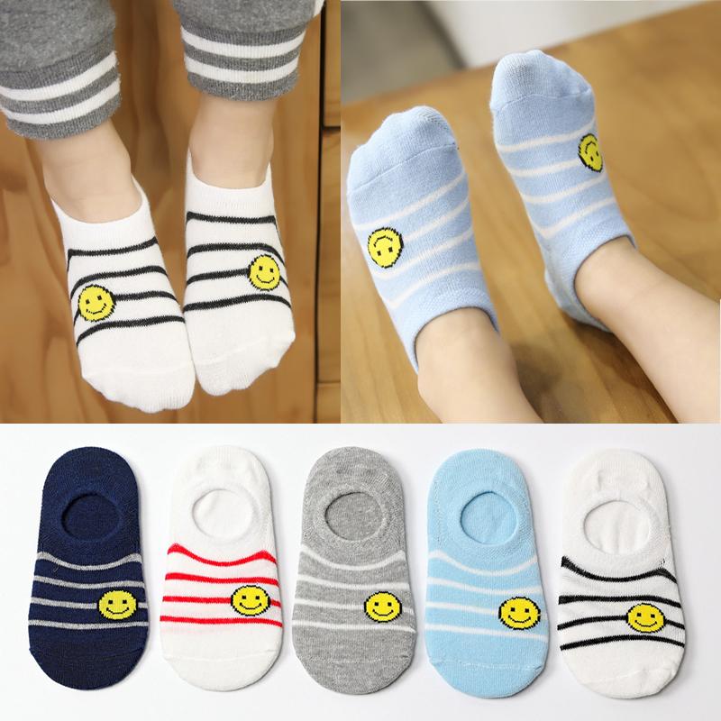 儿童船袜男童纯棉浅口女宝宝短袜1-3-5-7-9-12岁儿童袜子夏季薄款