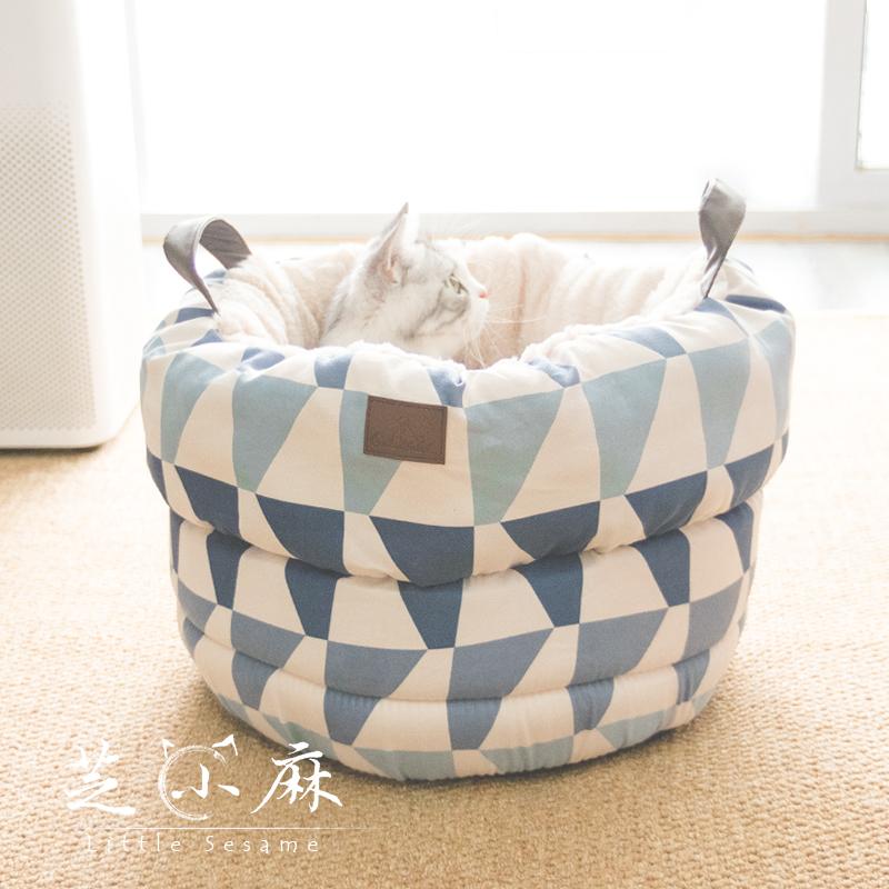 猫窝猫睡袋冬季几何ins可拆洗网红深度睡眠猫窝踩奶猫咪窝宠物窝