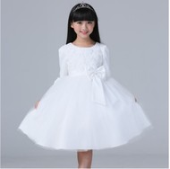 Kids Kids Dresses Flower Girl Wedding Dresses Girls Long Sleeve Princess Dresses Dolls Dresses Dresses Dresses Puff Dresses