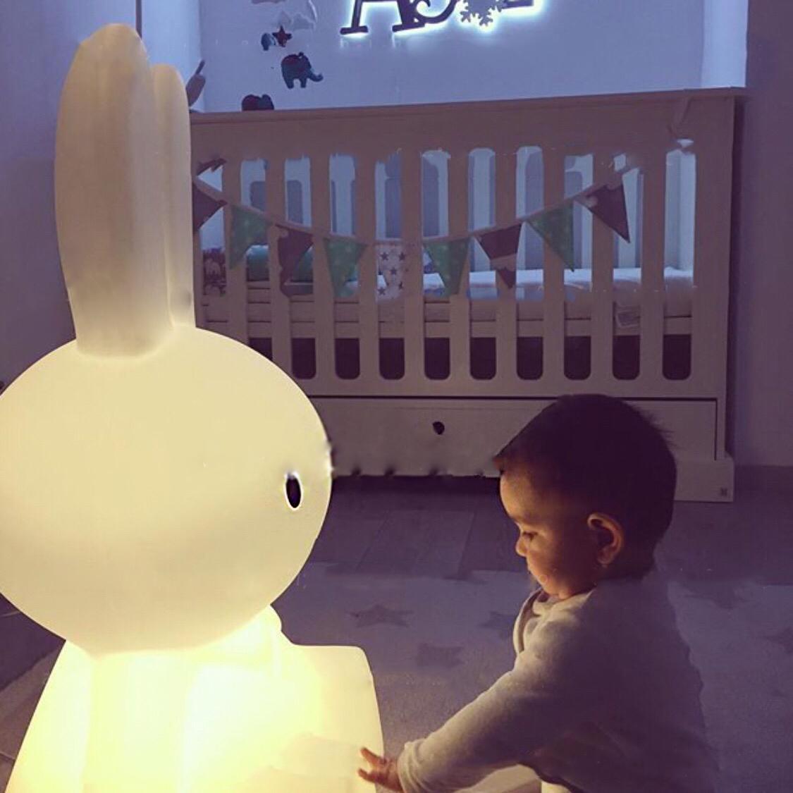 ins兔子灯大号LED儿童房夜灯装饰可爱卡通灯卧室台灯床头灯落地灯-Maybelove