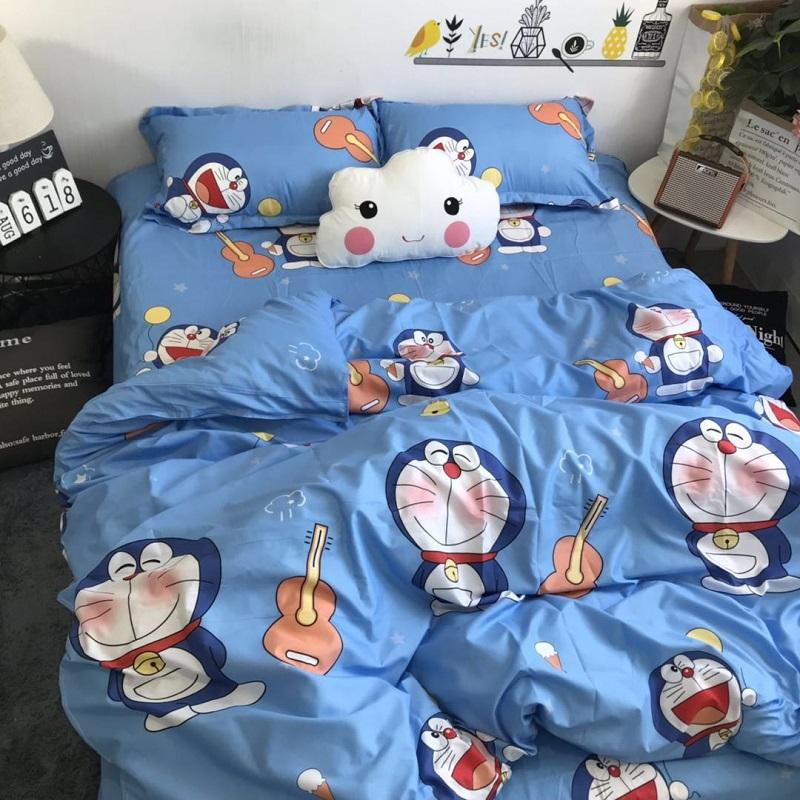 ins可爱卡通多啦A梦床上用品3四件套1.5m被套学生宿舍床单三件套4