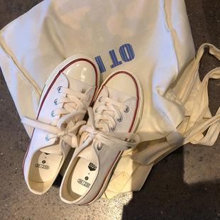 林先参  一双万年百搭的1970s白色帆布鞋女低帮韩版街拍ins小白鞋图片