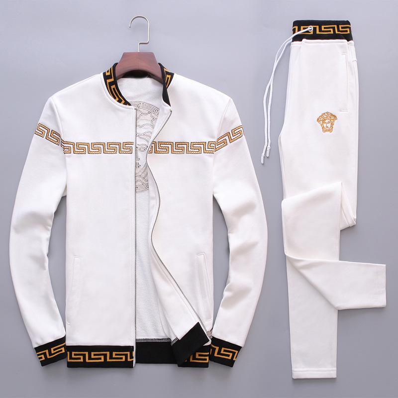 男装秋季运动套装美杜莎春秋季男士刺绣上衣长袖休闲卫衣两件套新