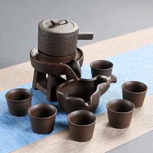 半全自动功夫茶具套装懒人石磨组合整套茶壶杯创意家用陶瓷泡茶器