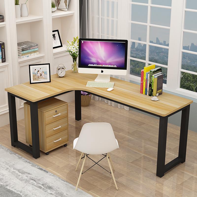 转角书桌电脑桌墙角拐角办公桌L型写字书桌子简约电脑台式桌家用