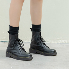 岛上定制马丁靴女英伦风le8秋单靴2ft式百搭真皮短靴子春秋女鞋