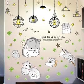 个性创意卡通儿童房墙贴纸瓷砖玻璃贴卧室宿舍装饰墙纸贴画可移除