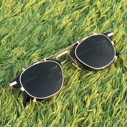 余文乐同款斯文败类眼镜框双层男女复古两用套镜墨镜挂片式太阳镜