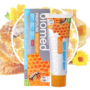 Biomed原装进口无氟精油蜂蜜天然植物牙膏 100g