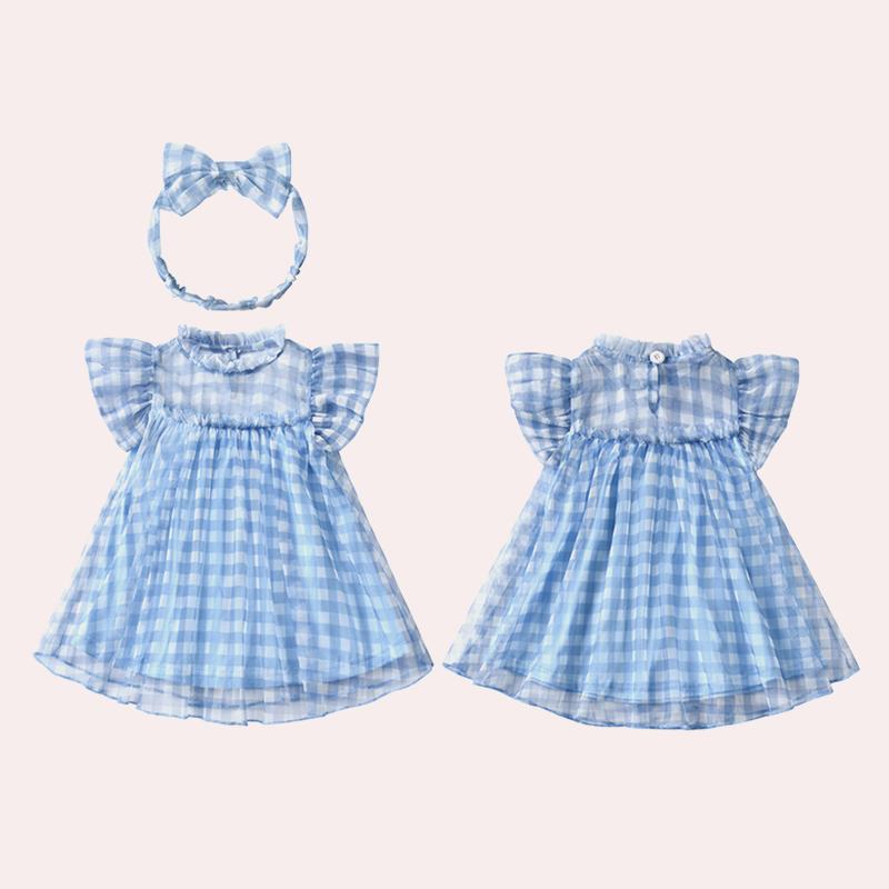女童连衣裙夏装韩版公主裙小女孩0-1岁2婴儿纱裙周岁洋气宝宝裙子