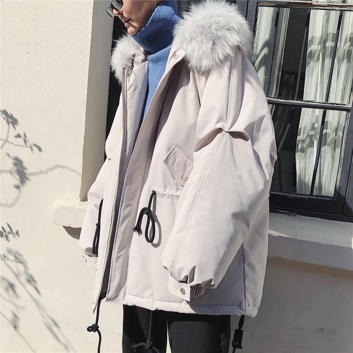 旋律风车自制大毛领棉服男2020新款连帽棉衣冬季学生宽松外套潮流