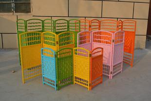 幼儿园区角布置小屏风 宠物隔断折屏 环保 镂空移动区域折叠 玄关图片