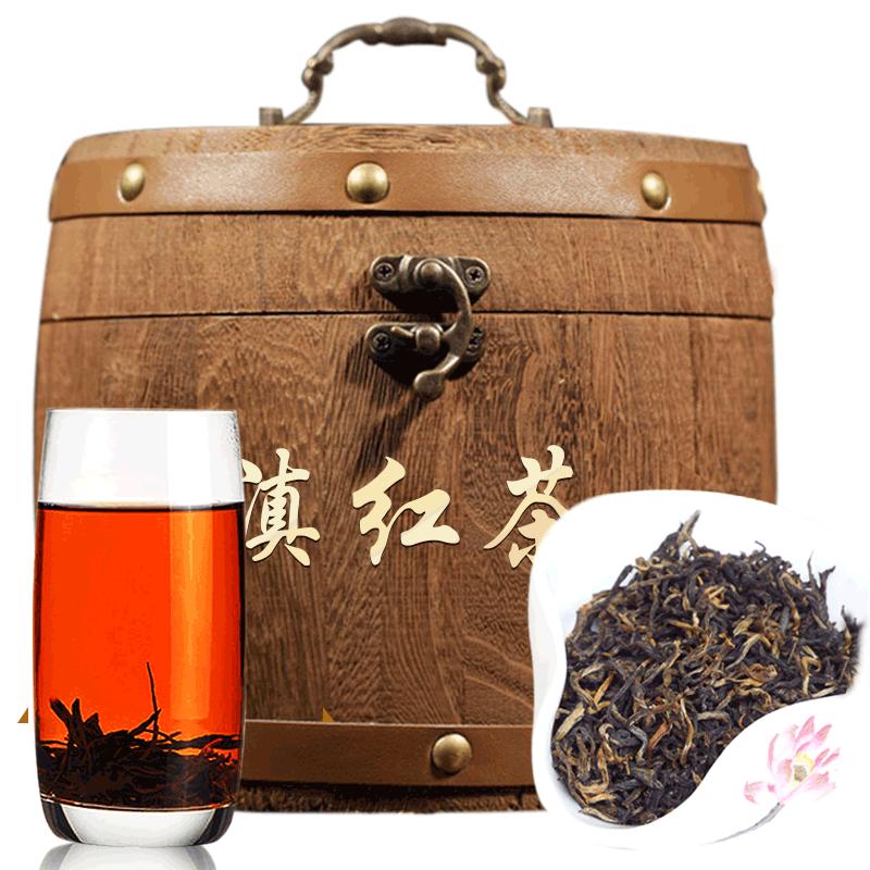 红茶茶叶 云南凤庆滇红茶2019春茶古树功夫红茶500克叶蜜香木桶装