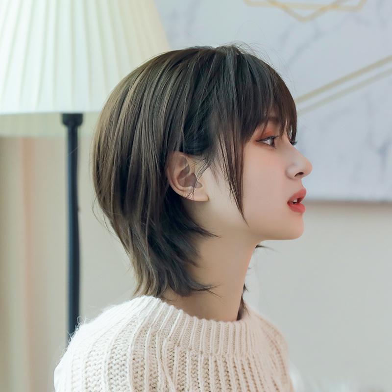 假发女 潮流韩国网红气质短发法式刘海辛芷蕾帅气修脸中性假发套