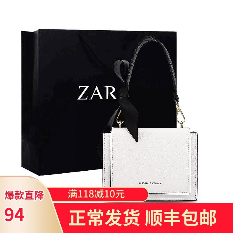 香港正品小ck小包包2020新款女包抖音同款手提宽肩带斜挎包小方包