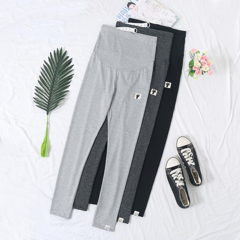 孕妇裤夏季九分裤薄款冰丝小脚打底小猫小脚裤怀孕期托腹孕妇裤子