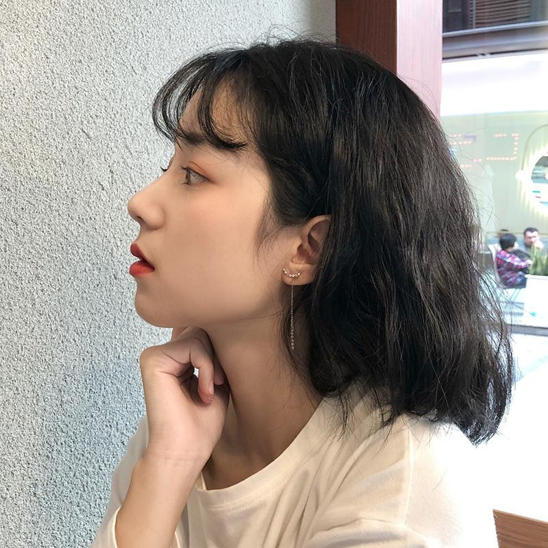 一款两戴超仙长款锆石流苏吊坠耳环韩国气质个性耳钉耳饰耳挂女潮