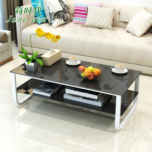 Glass tea table simple modern living room personality furniture combination creative small apartment simple square office table