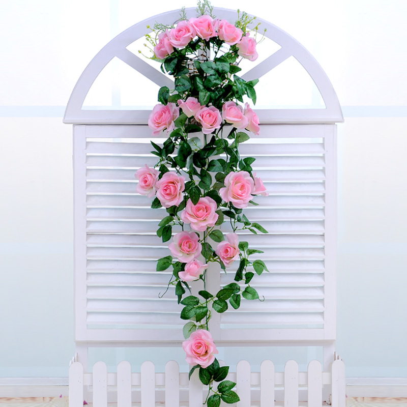 Decorative Hanging Flower Baskets : Fake flower simulation living room wall hanging