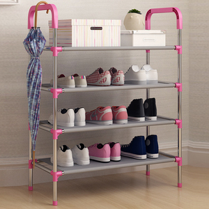 Multi-layer simple shoe rack home shoe cabinet assembly fabric economy bedroom dormitory small shoe shelf home storage cabinet