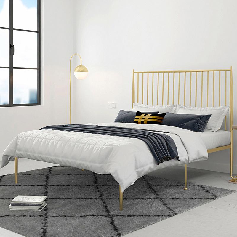 欧式环保铁艺床1.5米1.8米双人床1.2米单人床铁床金属钢管床