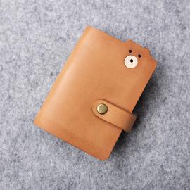 新款原创可爱小熊牛皮多卡位大容量银行卡证件卡名片收纳包卡套包