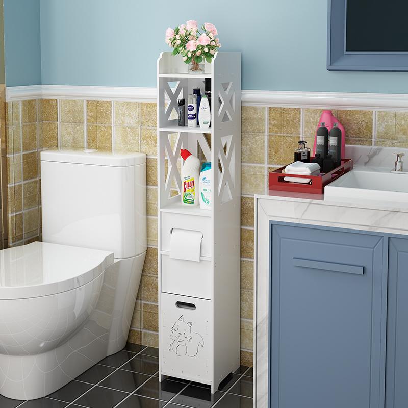 马桶边柜卫生间收纳柜防水浴室置物架多层落地式洗手间角柜窄柜
