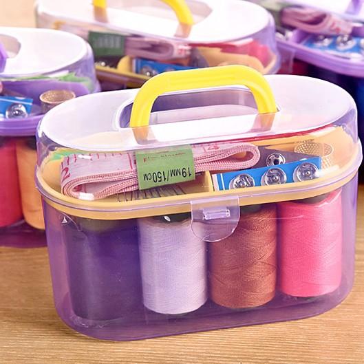 多功能居家用针线盒套装便携式针线包缝补工具10件套缝纫套装线盒
