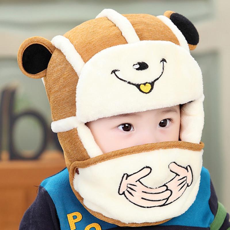 儿童帽子冬季宝宝雷锋帽2-3-5岁加绒两用小孩男童女童保暖护耳帽