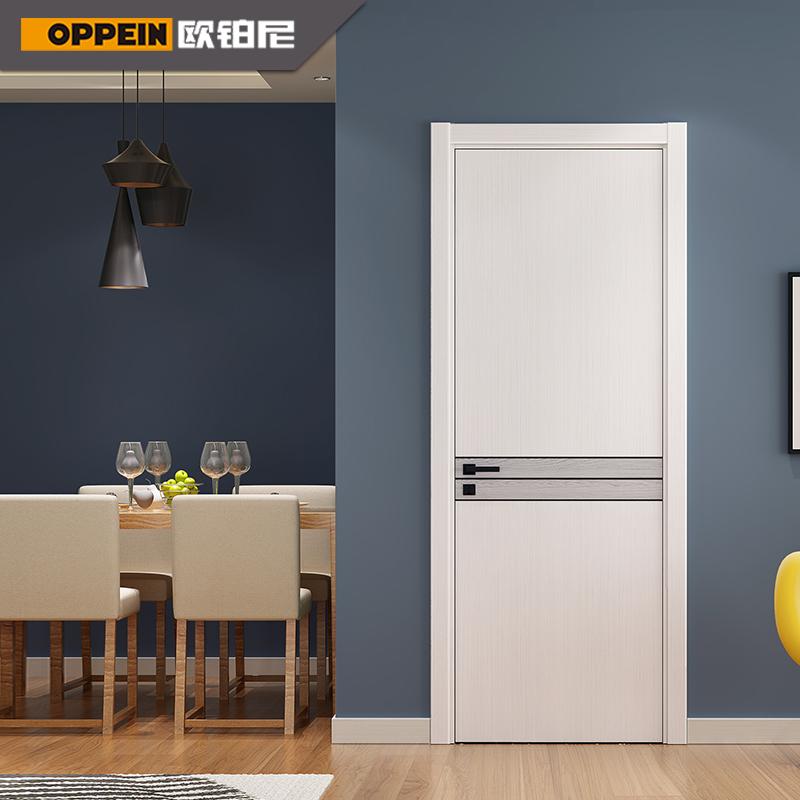欧派欧铂尼木门定制小资情怀科技木皮单开门室内门门套装卧室房门
