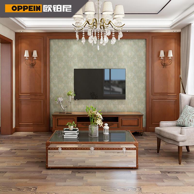 欧派欧铂尼木门护墙板1号-850套餐实木装修材料 护墙板整体墙面