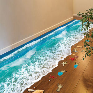3D three-dimensional wall stickers floor stickers poster paper bedroom room wallpaper self-adhesive decorative tiles waterproof stickers