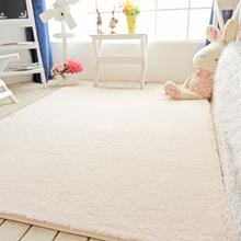 家用短毛丝毛地毯卧室网红zh9款床边满mi几沙发地垫房间米色