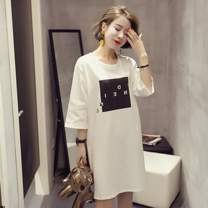 2018 summer women's Korean short-sleeved T-shirt women's students in the long-sleeved clothes jacket