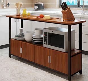 多功能家用微波炉厨房置物架落地多层收纳灶台碗柜切菜桌子操作台