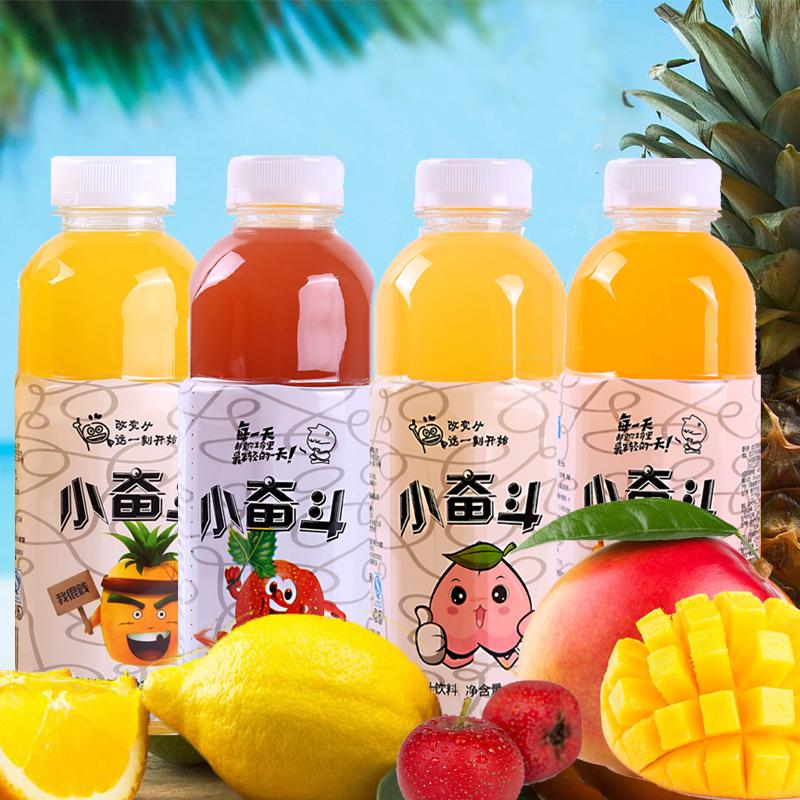 纯正果汁饮料果味蜜桃山楂汁500ml*4*15瓶芒果菠萝饮料果蔬汁整箱