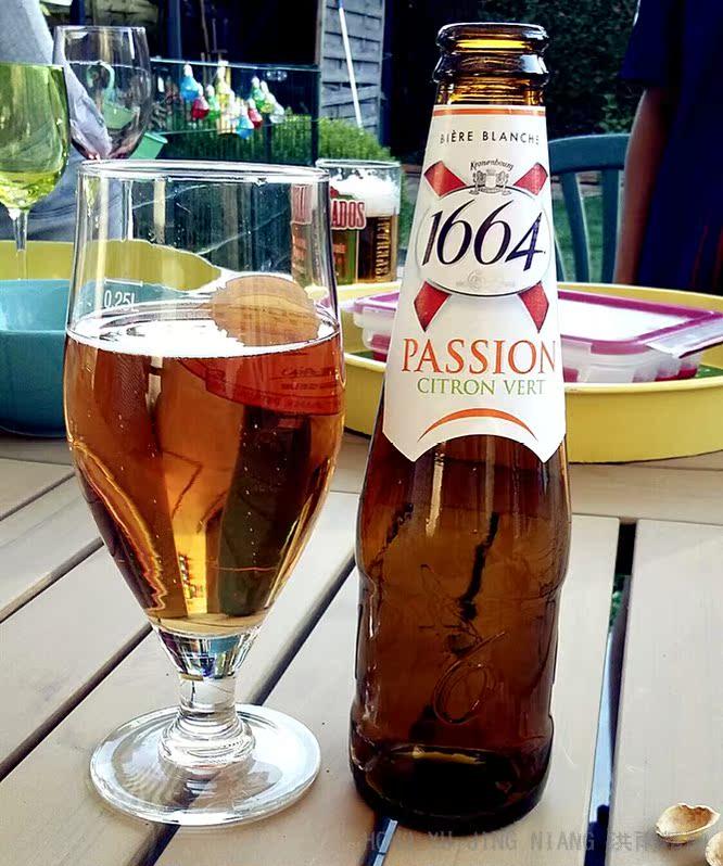 【洪雨精酿】1664 百香果啤酒 passion 水果味 女士法国进口250ml