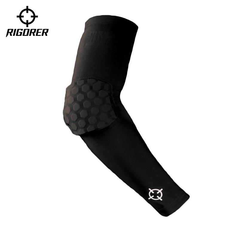 准者蜂窝防撞护臂防晒运动健身跑步训练足球篮球装备透气护肘护腕