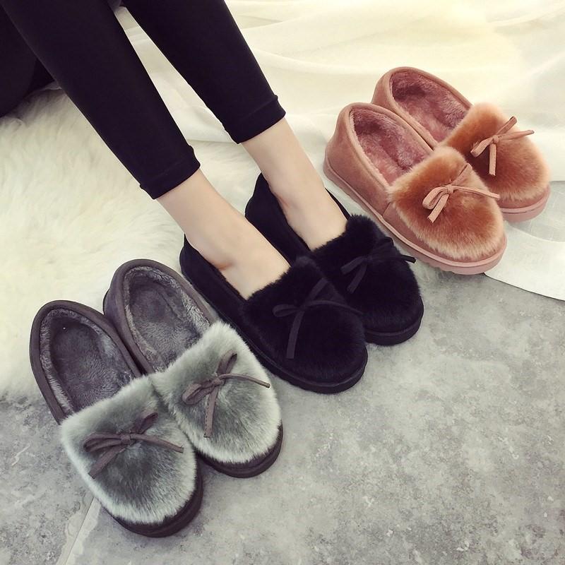 冬季加绒保暖家居家棉拖鞋女包跟厚底防滑时尚外穿一脚蹬棉鞋软底