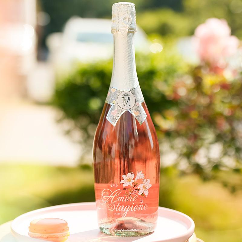 意大利原瓶进口起泡酒恋爱季桃红甜型气泡酒香槟酒甜酒单支750ml